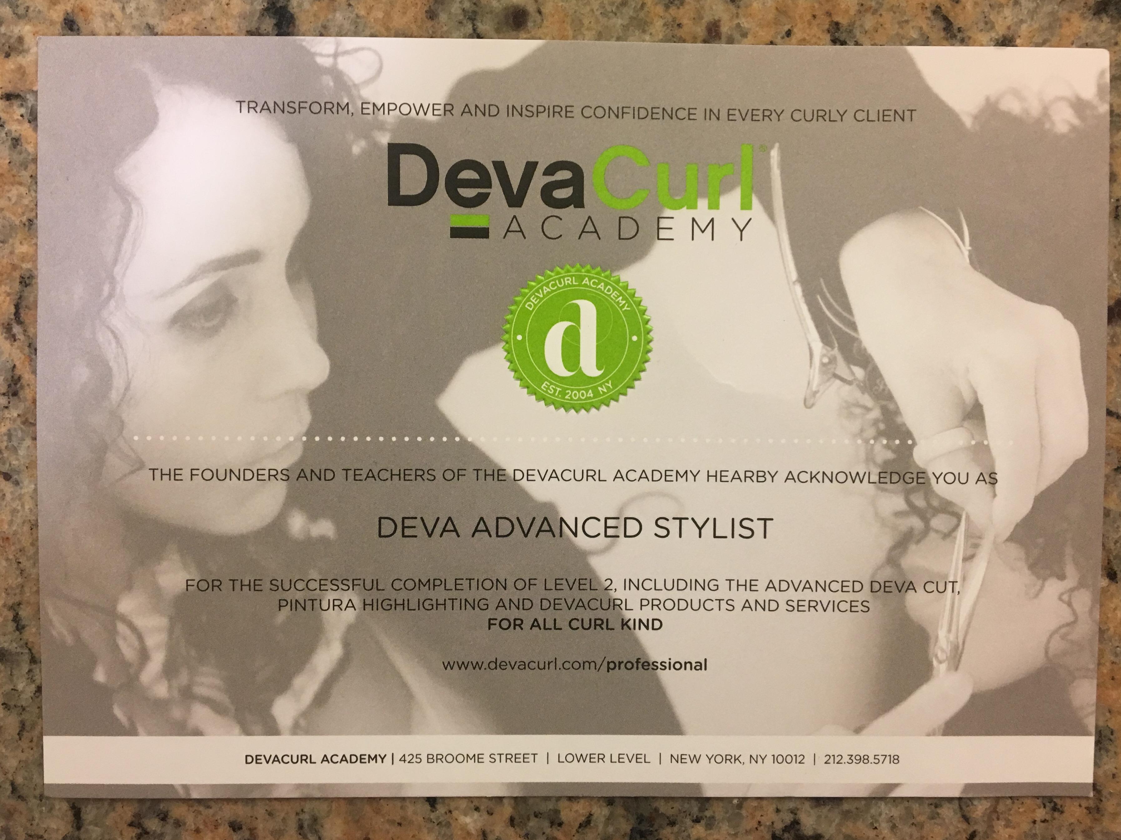 DevaCurl training